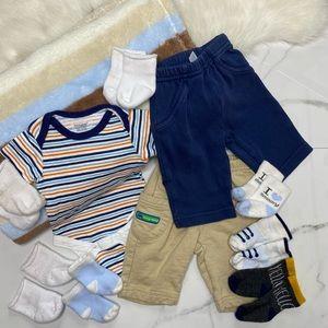 🎉Bundle baby boy bottoms socks blanket A2-14